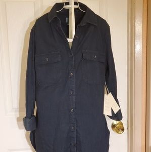 A  New Day Denim Shirt Sz Small NWT